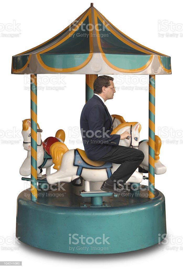 Corporate Merry-Go-Round stock photo