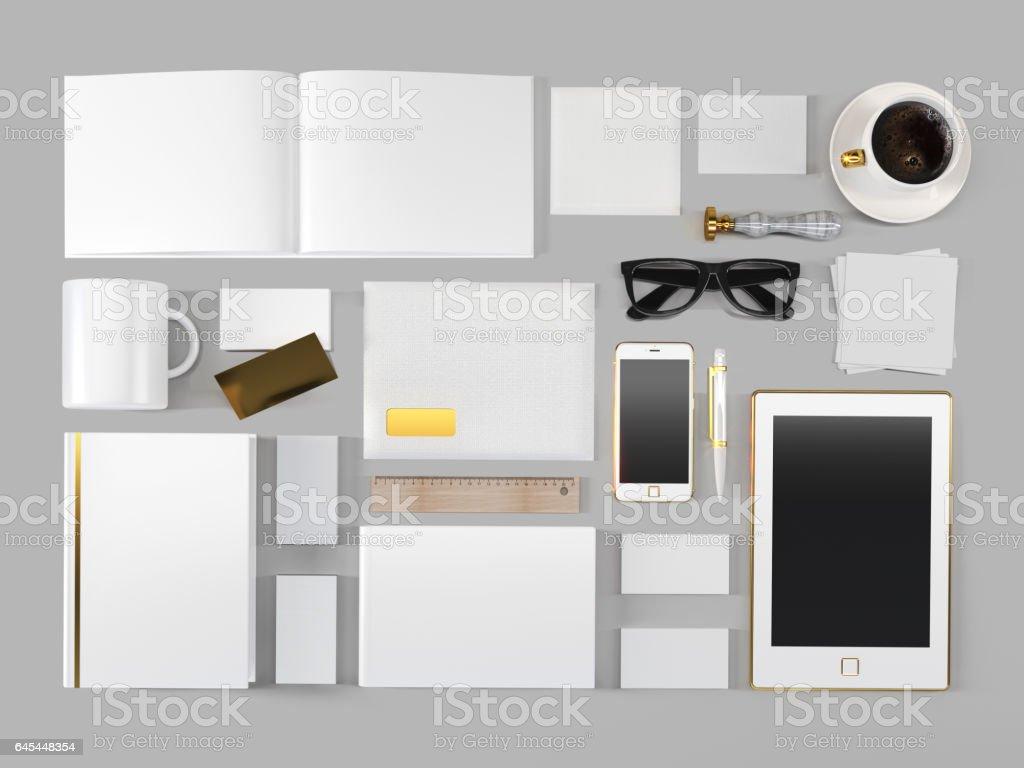 Corporate mockup stock photo