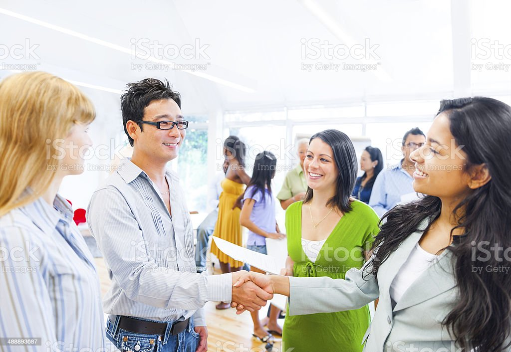 Corporate People Having a Business Agreement stock photo