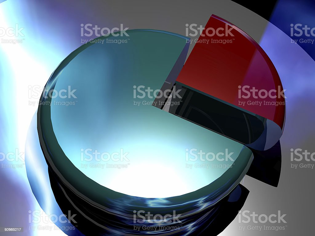 3D Corporate Pie Chart royalty-free stock photo