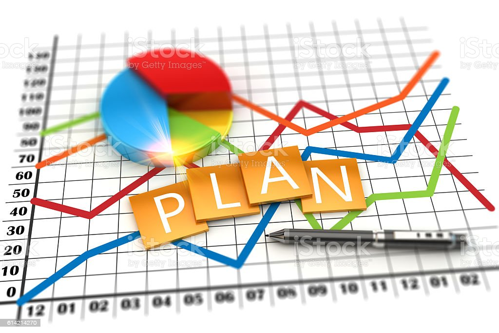 Corporate planning financial and investment concept stock photo