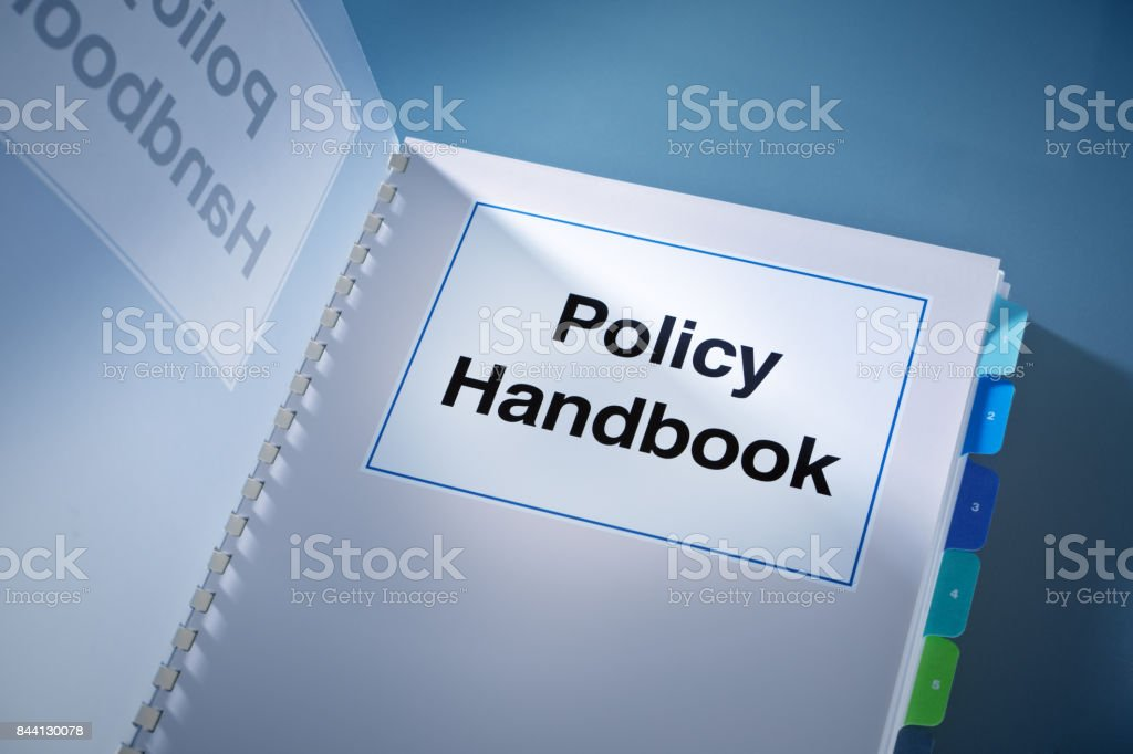A Corporate Policy Plan Document Manual Book Still Life stock photo