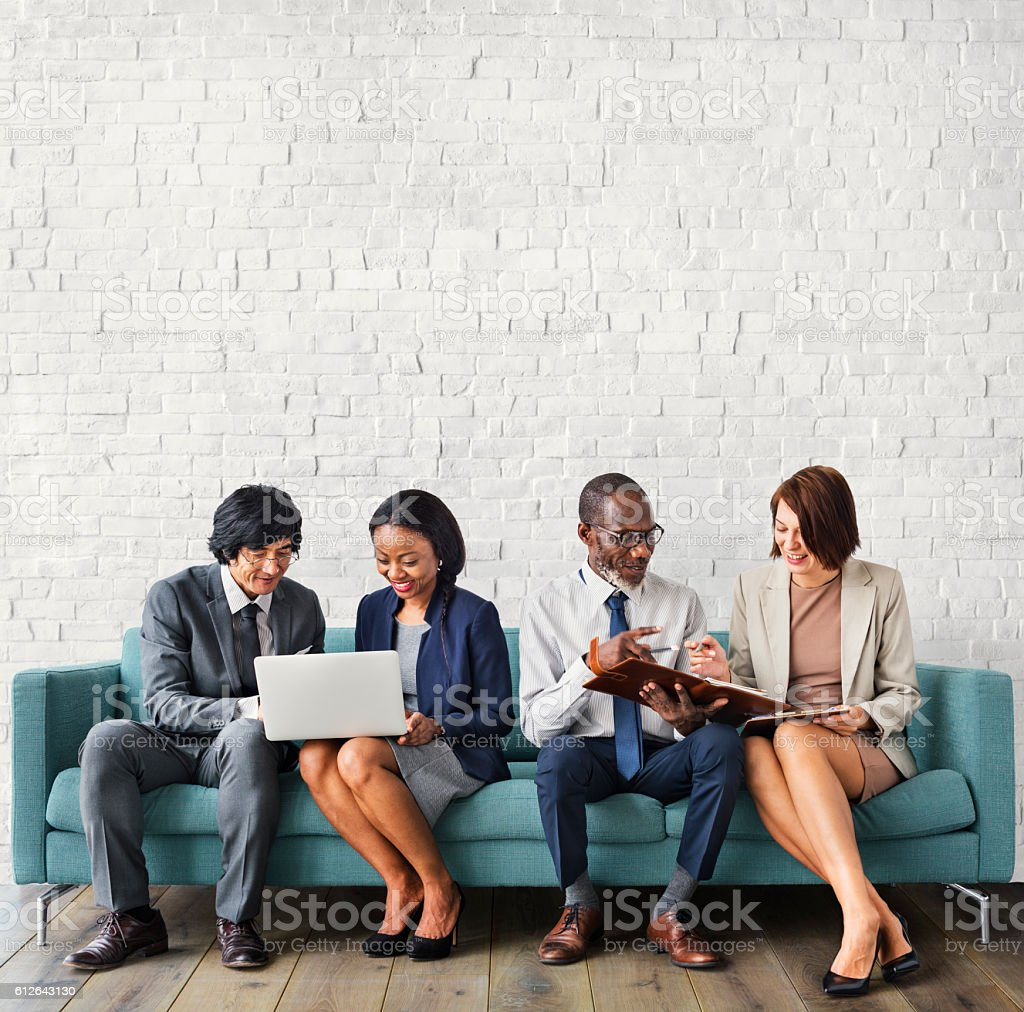 Corporate Professional Business Workers Concept stock photo