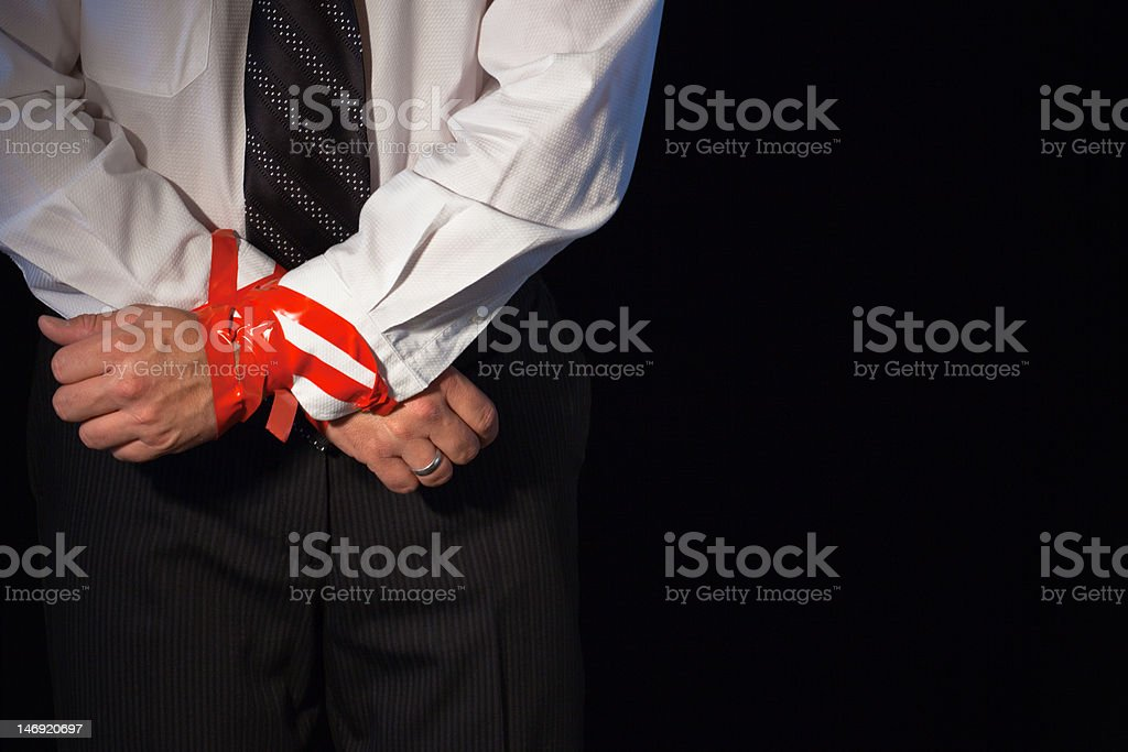 Corporate Red Tape stock photo