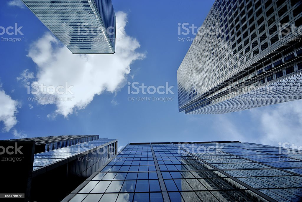 Corporate skyscrapers royalty-free stock photo