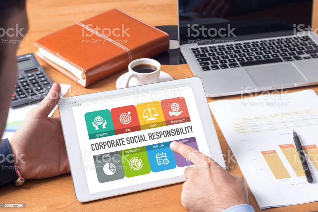 Corporate Social Responsibility Concept stock photo