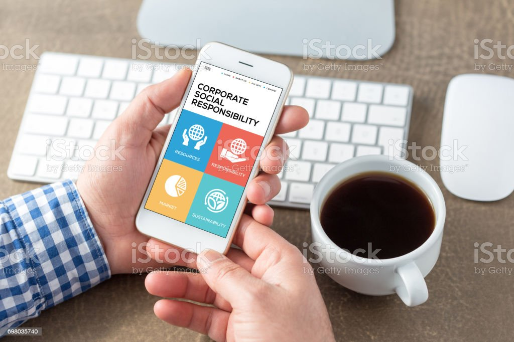 Corporate Social Responsibility Concept stock photo