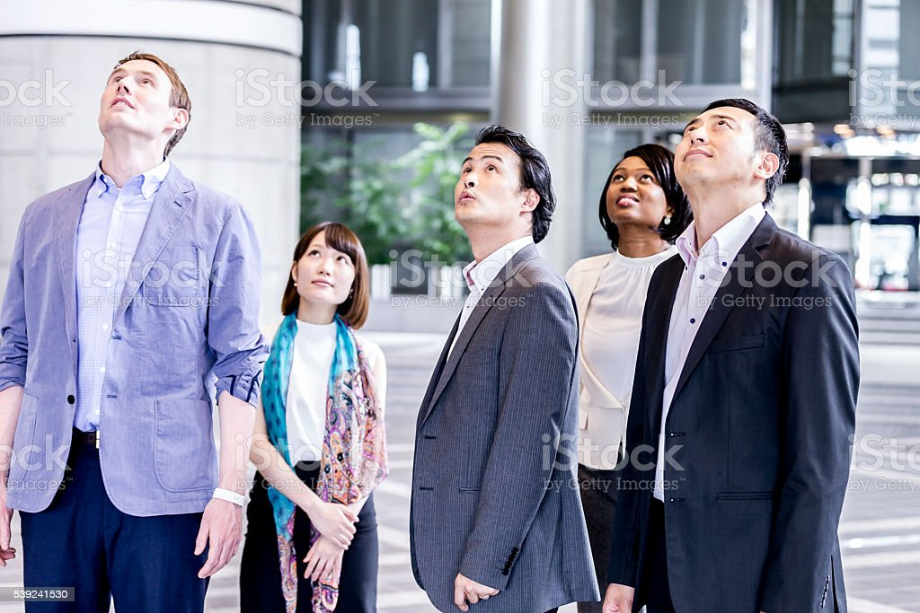 Corporate team conducting final inspection of their office. royalty-free stock photo