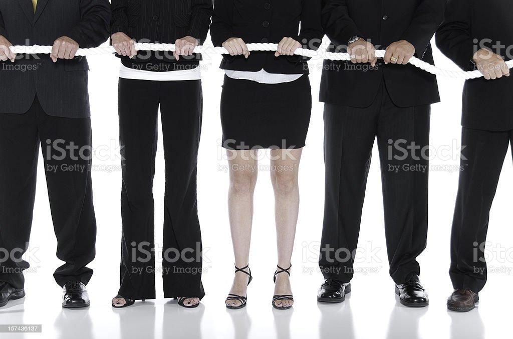 Corporate Teamwork royalty-free stock photo