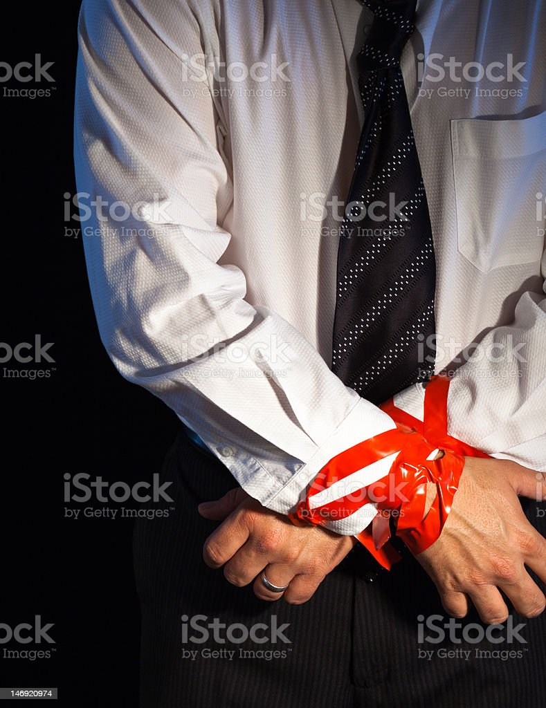 Corporate Tie Up stock photo