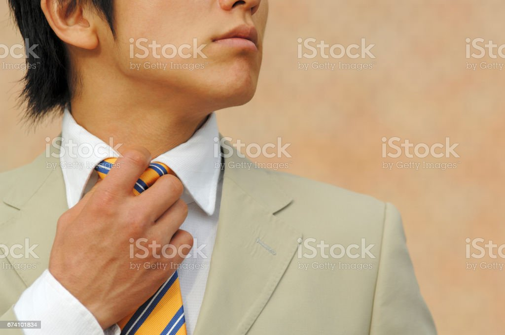 Corporate tie up royalty-free stock photo