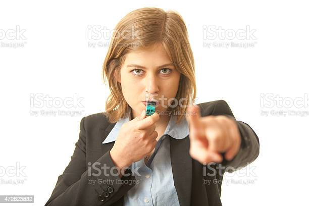 Corporate Whistle Blower Stock Photo - Download Image Now
