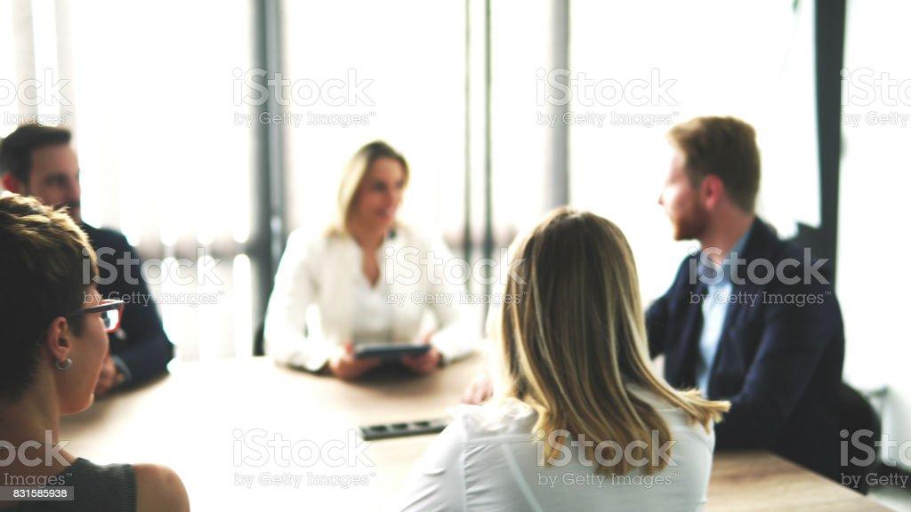 Corporation meeting stock photo
