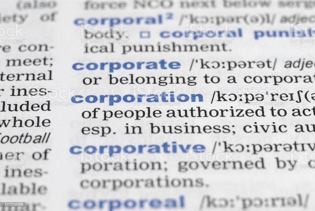 corporation royalty-free stock photo