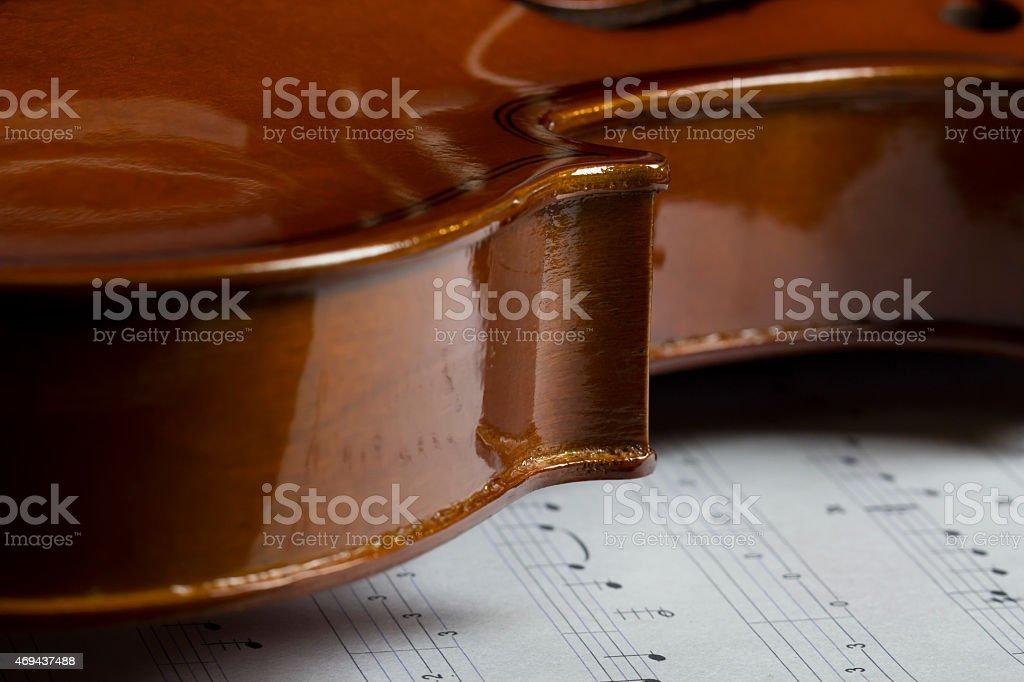 Corps et filet d'un violon stock photo