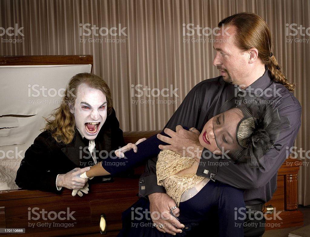 Corpse Coming Back to Life royalty-free stock photo