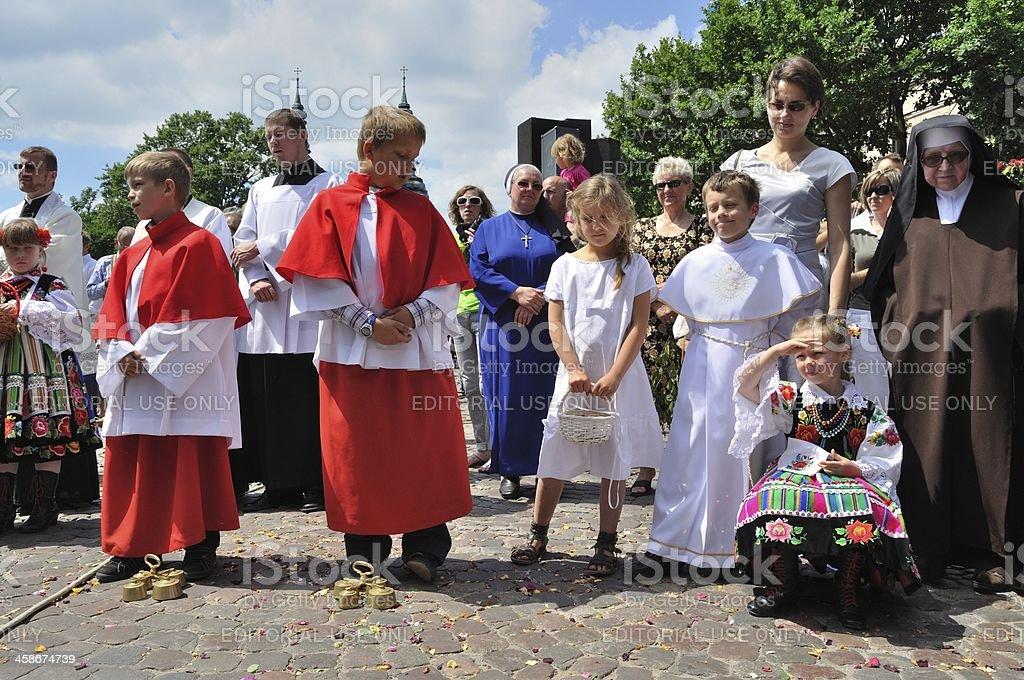 Corpus Christi Day in Lowicz stock photo