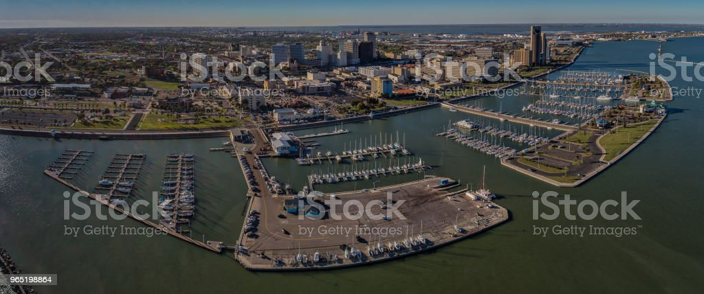 Corpus Christi, Texas Skyline over the Marina royalty-free stock photo