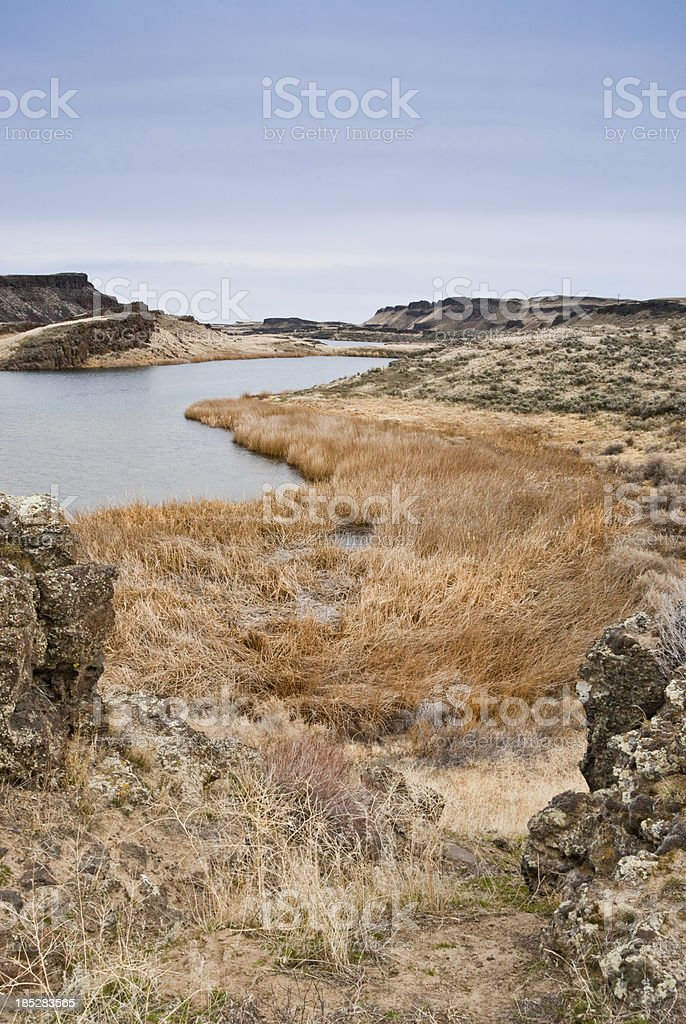 Corral Lake in the Eastern Washington Potholes royalty-free stock photo