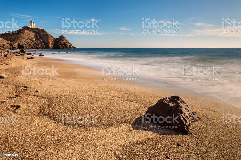 Corralete beach stock photo
