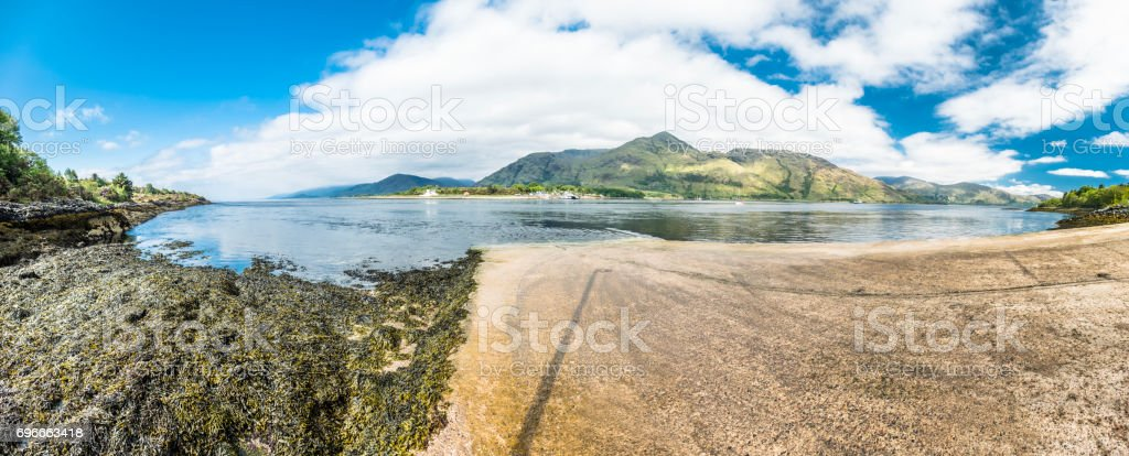 Corran ferry is connecting Ardnamurchan with Lochaber stock photo