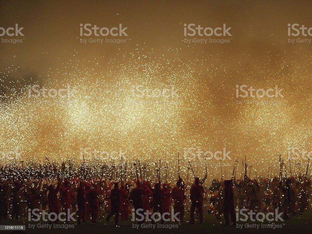 Corre Focs stock photo