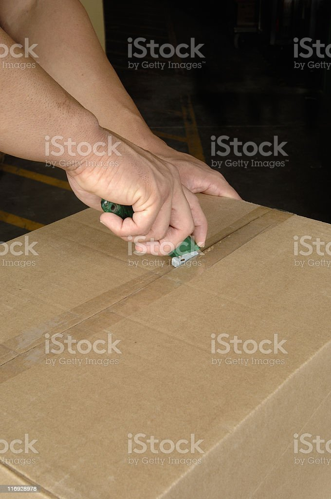 Correct cutting procedure stock photo