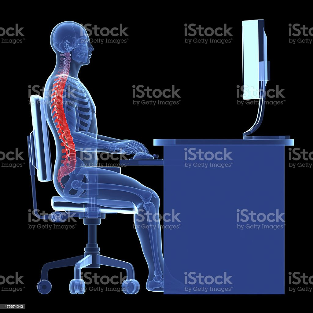 correct sitting stock photo