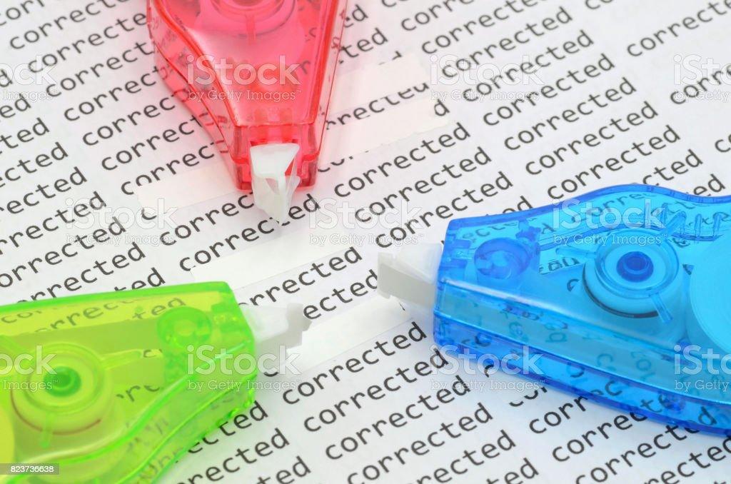 correction roller stock photo