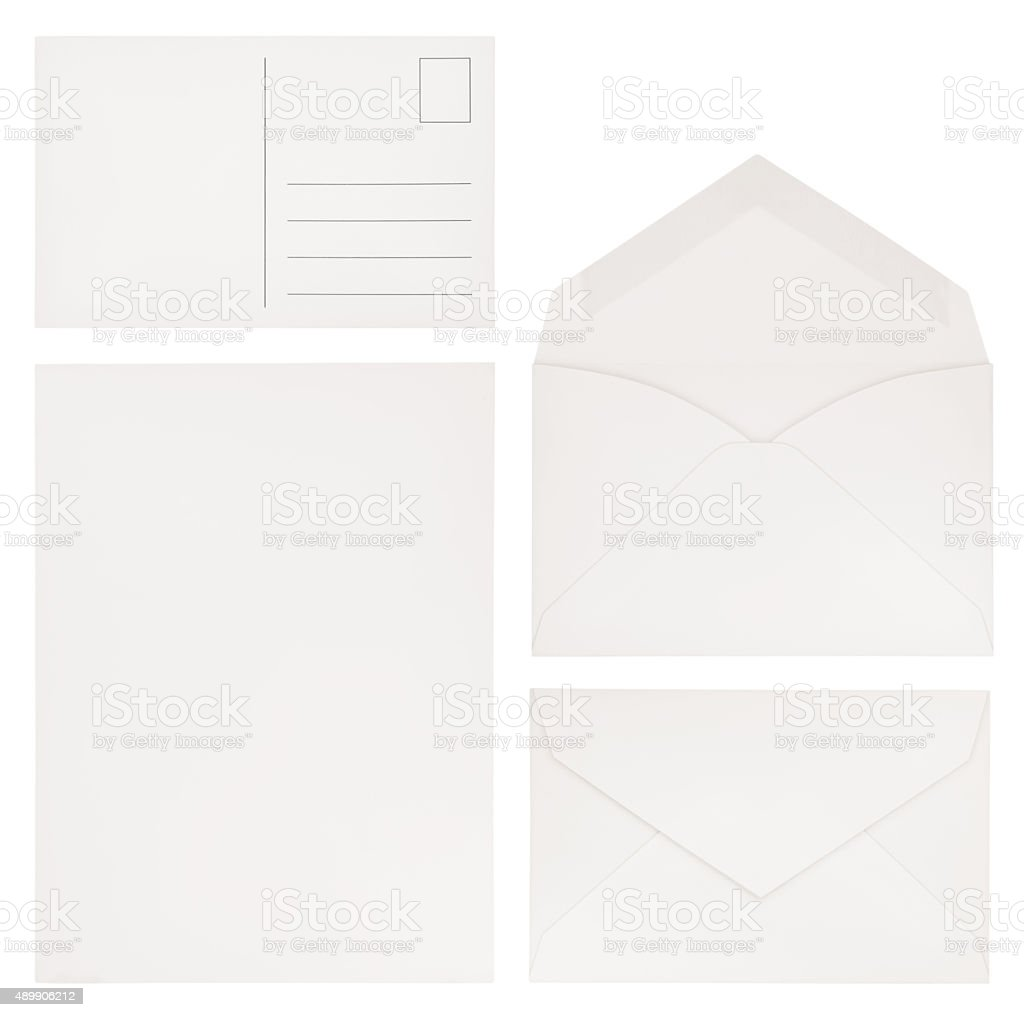 Correspondence Collection (with path) stock photo
