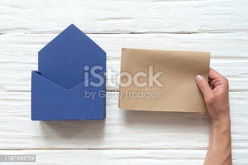 istock Correspondence sending concept. 1167434724