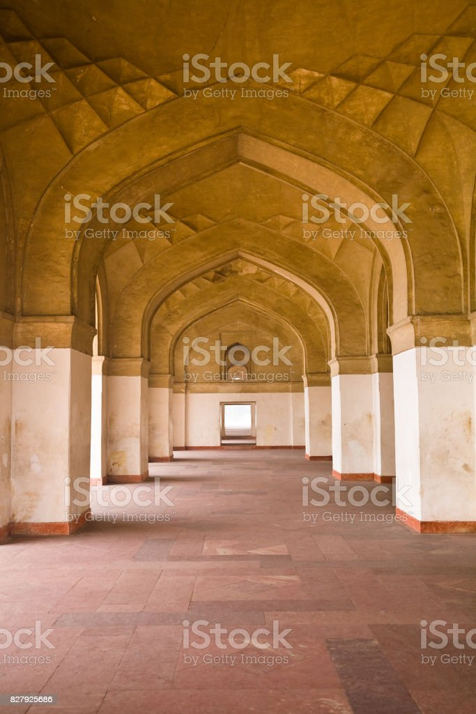 Corridor, Akbar Tomb stock photo