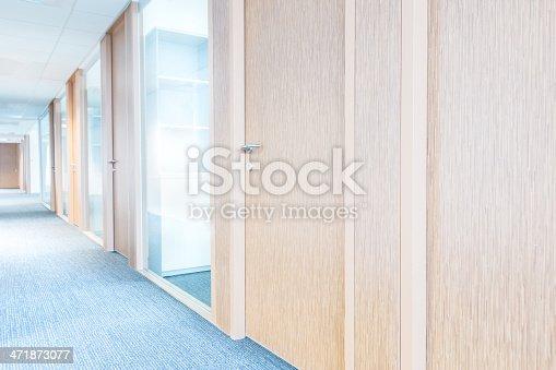 istock Corridor and Modern Glass Office 471873077