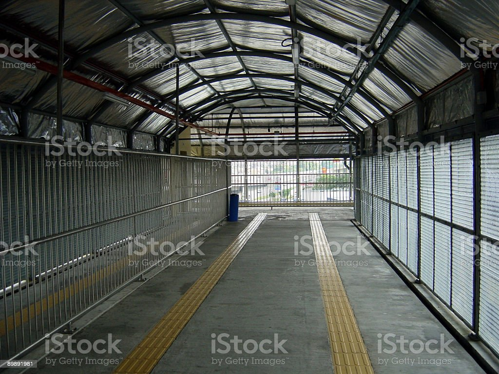 Corridor at Train Station royalty-free stock photo