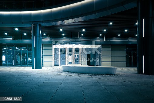 istock Corridor Corridor of Metallic Wall in Modern Architecture 1086316602
