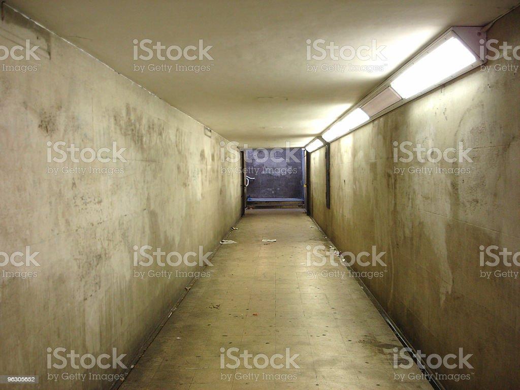 Corridor Grunge royalty-free stock photo