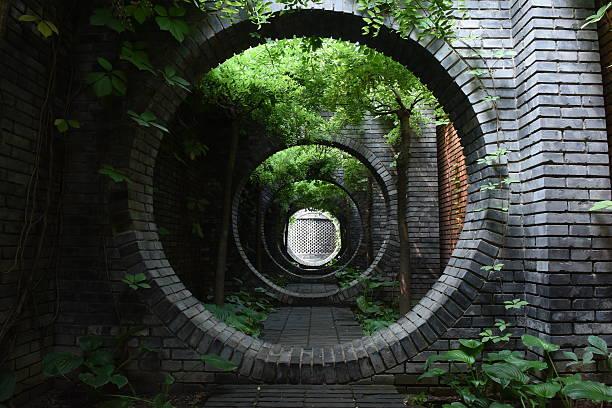 Corridor in Beijing stock photo