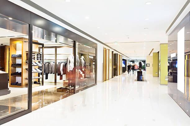 corridor in modern shop stock photo