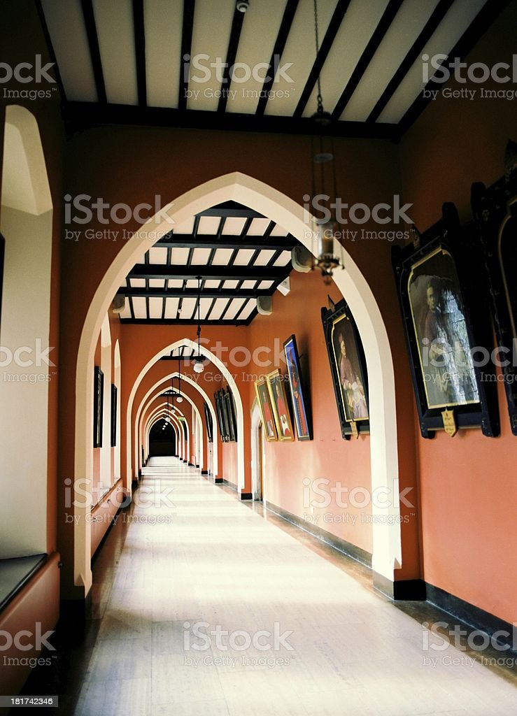 Corridor in NUI Maynooth royalty-free stock photo