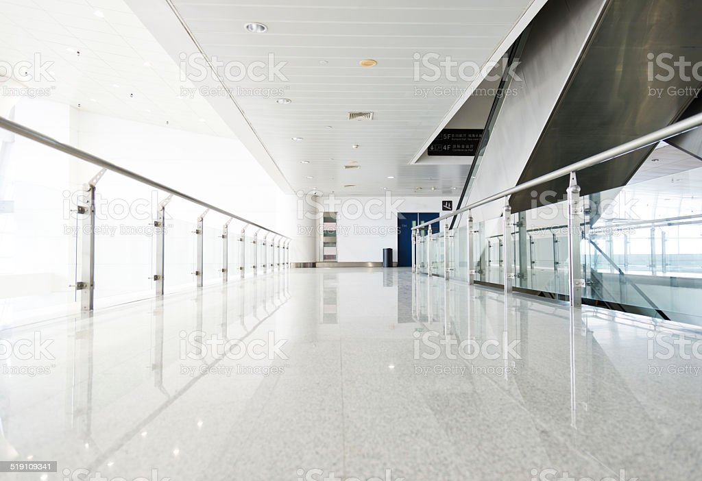 corridor in office building stock photo
