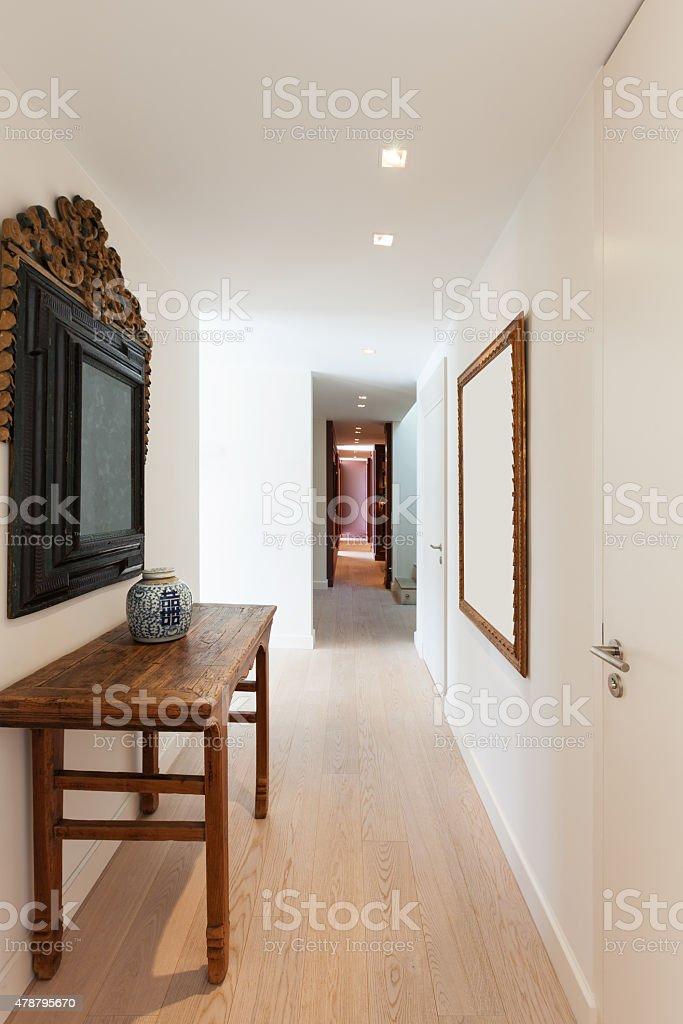 corridor of a modern apartment stock photo