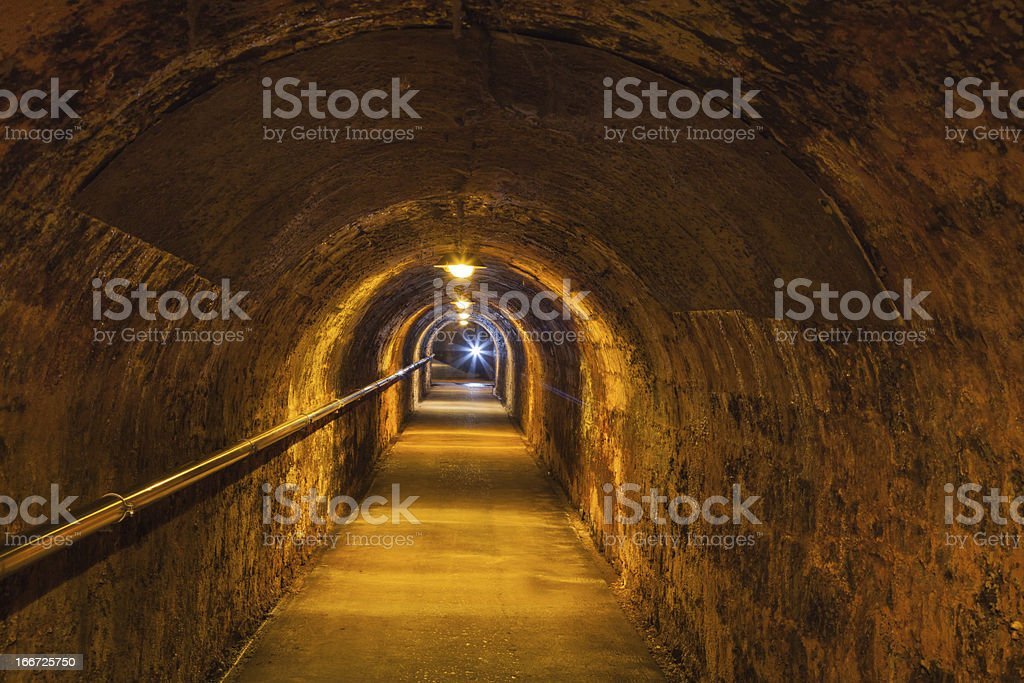 Corridor of an old wine cellar royalty-free stock photo