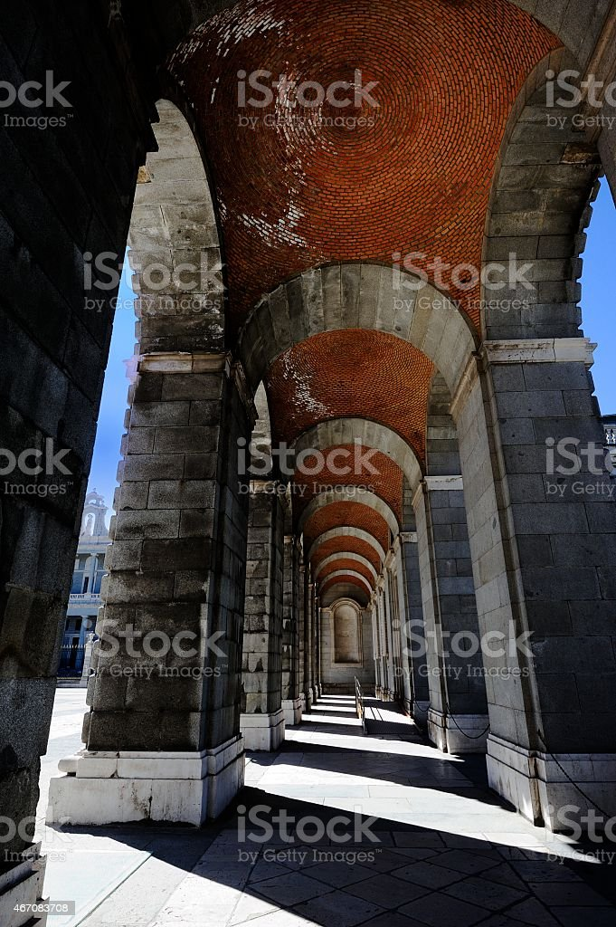 Corridor of Arches stock photo