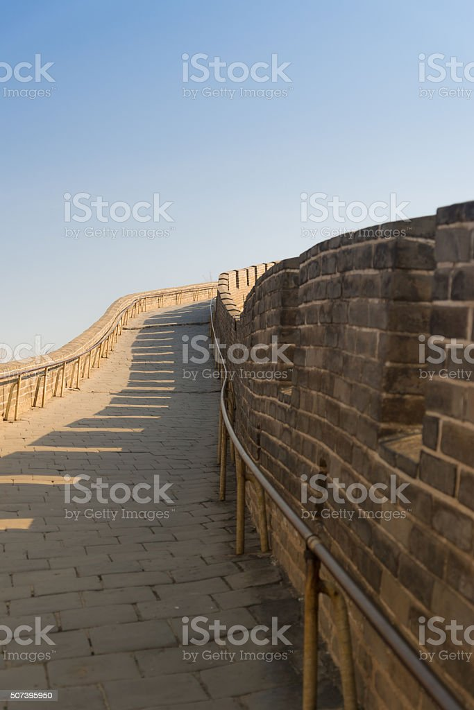 Corridor of the Great Wall of China stock photo