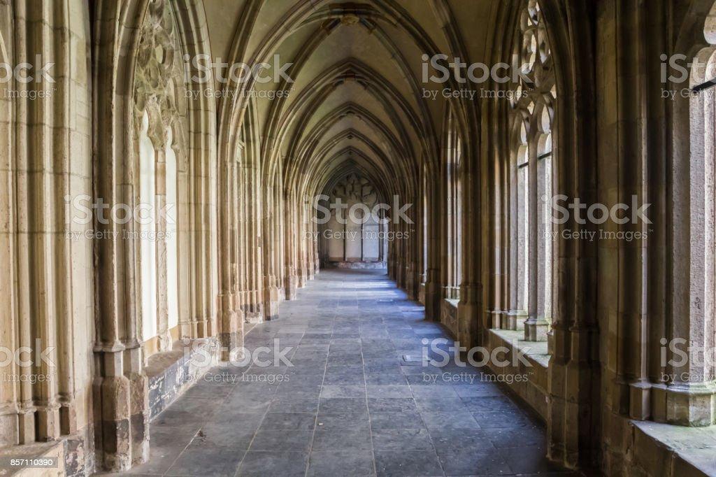Corridor de la Pandhof Domkerk à Utrecht, Pays-Bas - Photo