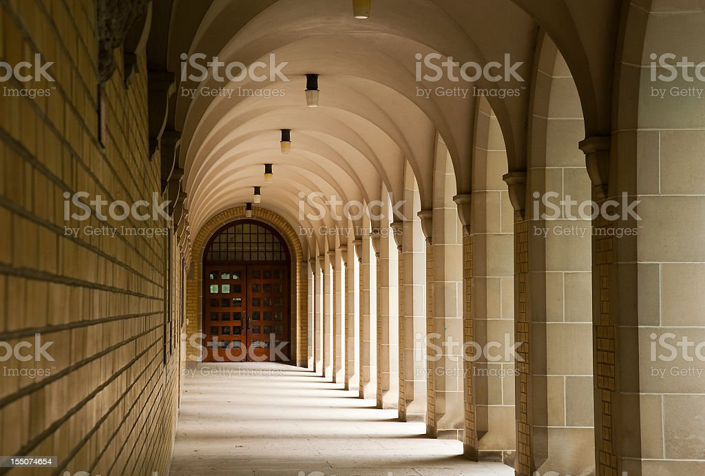 Corridor of Wisdom stock photo