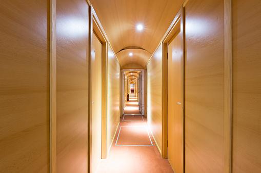Corridor on a cruise ship hotel