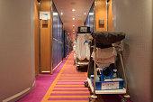 Corridor on a cruise ship