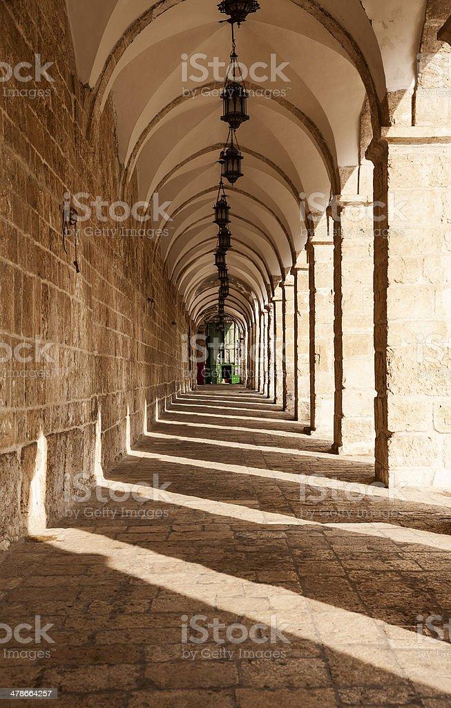Corridor On Temple Mount royalty-free stock photo