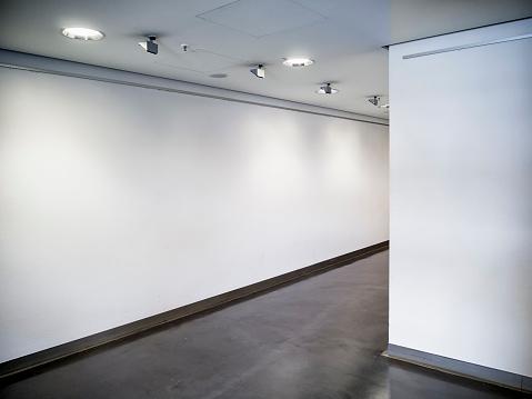 modern empty corridor - background - photo